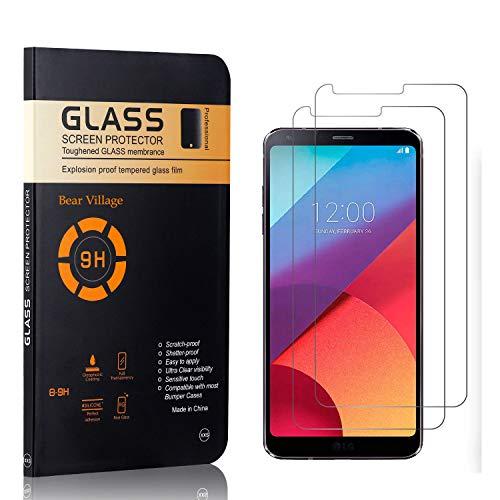 Bear Village® Displayschutzfolie für LG G6, 9H Härtegrad Displayschutz, Keine Luftblasen, 3D Touch Schutzfilm aus Gehärtetem Glas für LG G6, 2 Stück