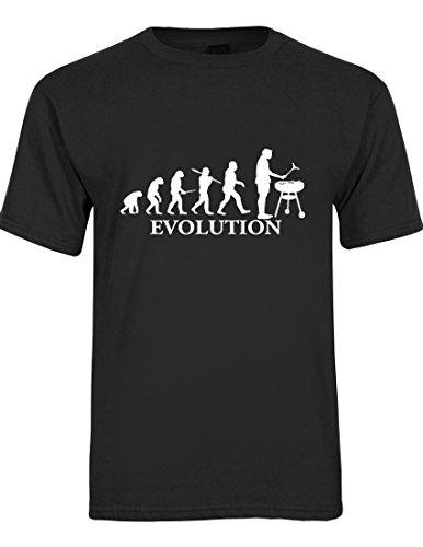 T-Shirt da Uomo Evolution Barbeque. (Nero, Medium)