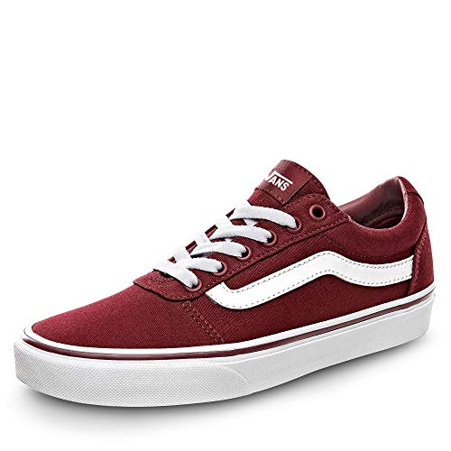 Vans Damen Ward Canvas Sneaker, Rot ((Canvas) Burgundy Olq), 38 EU