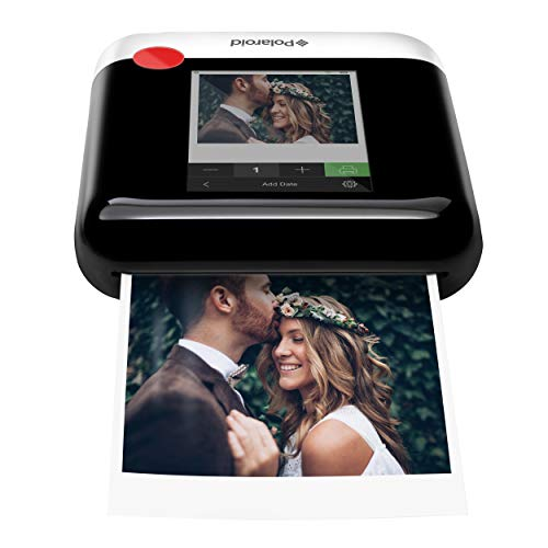 Polaroid WiFi Wireless 3x4 Portable Mobile Photo Printer (White) with LCD Touch Screen, Compatible w/ iOS & Android.