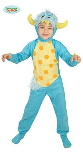 blaues Monster Kostüm für Kinder Gr. 110 - 134, Größe:128/134