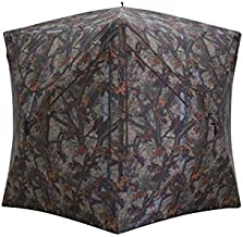 Barronett Blinds Prowler Hub Hunting Blind, 3 Person Pop Up Ground Blind, Bloodtrail Woodland Camo, PR350BT