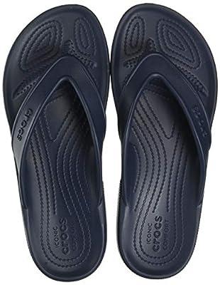 Crocs Classic II Flip Flop Casual Beach Shower Shoe Sandal, Navy, 10 US Women / 8 US Men M US
