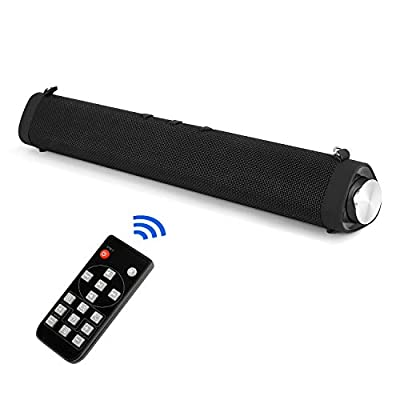 Small Soundbar for TV PC Wireless Bluetooth Soundbar Wall Mount with Subwoofer Computer USB Soundbar Speaker Remote Control from Aonrex