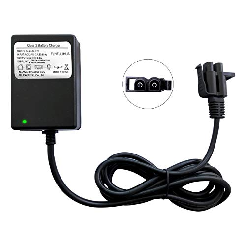 FLHFULIHUA 24 Volt Kids Ride On Car Charger for Yamaha Grizzly 24V Replacement Battery Charger Children Electric Car
