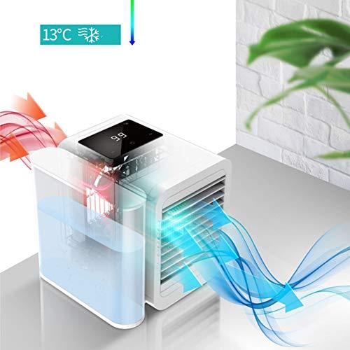 WFWPY Tragbarer Klimaanlagenlüfter Mini Klimaanlage Luftkühler Conditioner Klimagerät Wasserkühlung für Schlafzimmer, Zuhause, Auto, Büro Luft-Erfrischer