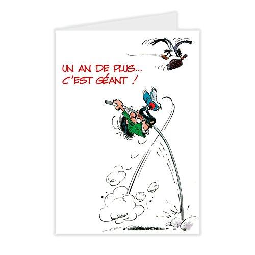 Gaston Lagaffe GLMX-2019 Grote verjaardagskaart met geïllustreerde envelop, formaat A4