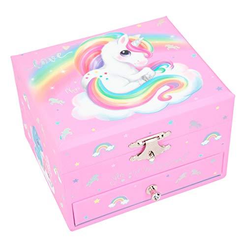 Depesche Bijoux avec boîte à Musique au Design Mignon Ylvi & The Minimoomis, Environ 13 x 12,8 x 9 cm-Naya la Licorne Tourne en mélodie, 10203130, 0, STK