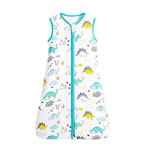 LuckyGirls Sacos de dormir para bebés, sacos de dormir para bebés sin mangas de algodón orgánico, sacos de dormir para niñas y niños (bebé 0-24 meses)