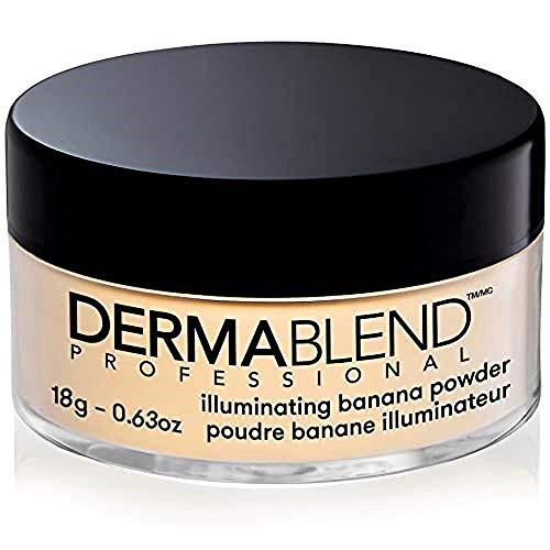 Dermablend Illuminating Banana Powder, Loose Setting Powder Makeup for Brightening and a Long-Lasting Luminous Finish, up to 16hr Wear, 0.63 oz