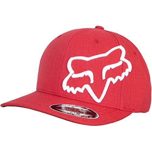 Fox Gorra Clouded Flexfit. rojo blanco S M