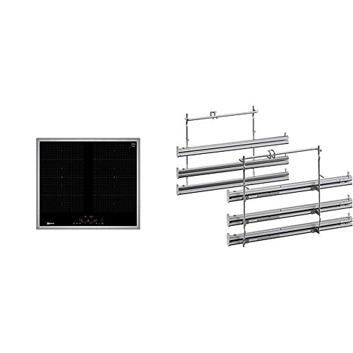 Neff T56BD60N0 Induktionskochfeld N70 / 60cm / FlexInduction/TouchControl/Glaskeramik/Edelstahlrahmen & Z12TF36X0 Backofen und Herdzubehör/Ofenroste/Kochfeld/Einbaugerät