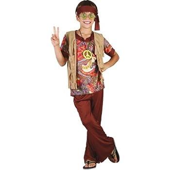 Disfraz de hippie para niño - 7 - 9 años: Amazon.es: Ropa y accesorios