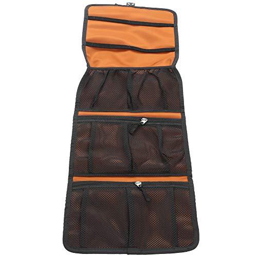 Double Layer Mesh Picnic Bag Portable Drawstring Tool Storage Bag Drawstring Mesh Bag for Riding Mountaineering for Camping Hiking and Trekking