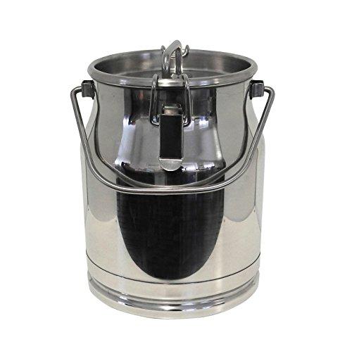 Ellofence Milchkanne 10 Liter – Edelstahl mit Deckel