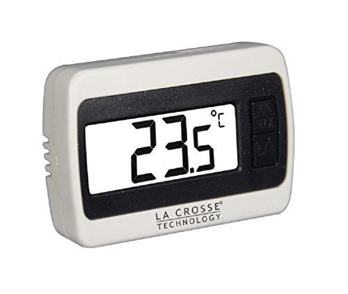 La Crosse Technology - WS7002 Petit thermomètre d'intérieur - Blanc.