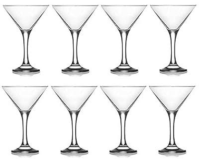 Epure Collection 8 Piece Glass Drinkware Set (Martini Glass (6 oz))