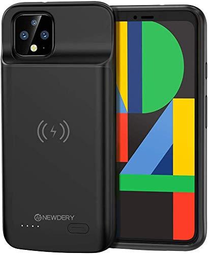 NEWDERY Google Pixel 4 XL Akku Hülle, 5000mAh Ladebatterie Zusatzakku Externe Handyhülle Batterie Wiederaufladbare Schutzhülle Battery Pack Powerbank Akku Hülle für Google Pixel 4XL