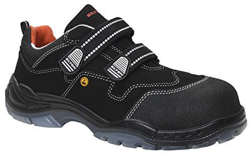 ELTEN Sicherheitsschuhe SID ESD S3, Herren, sportlich, leicht, schwarz, Kunststoffkappe, Klettverschluss - Größe 44