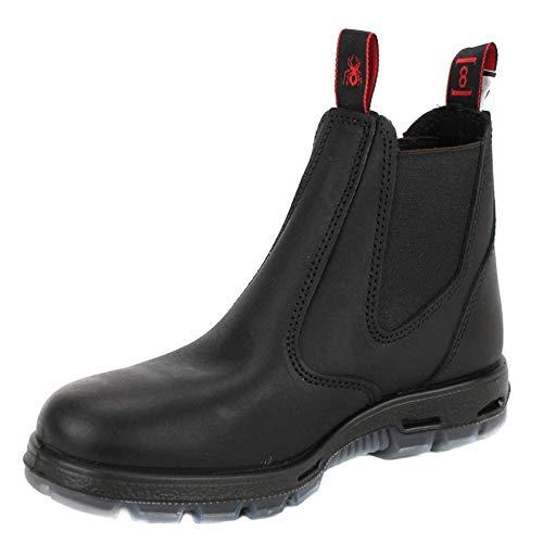 Redback Men's Bobcat UBBK Elastic Sided Soft Toe Black Leather Work Boot