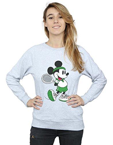 Disney Damen Mickey Mouse Tennis Sweatshirt Large Heather Grey