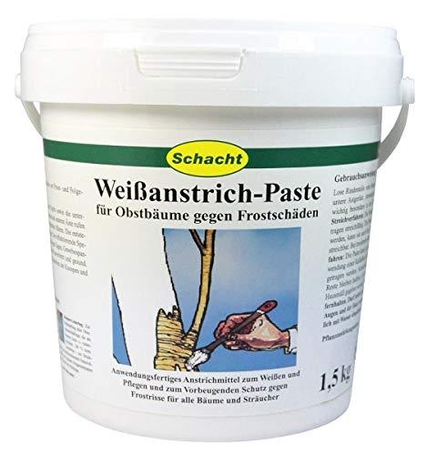 Schacht Weißanstrich Paste 1,5 kg für Obstbäume gegen Frostrisse