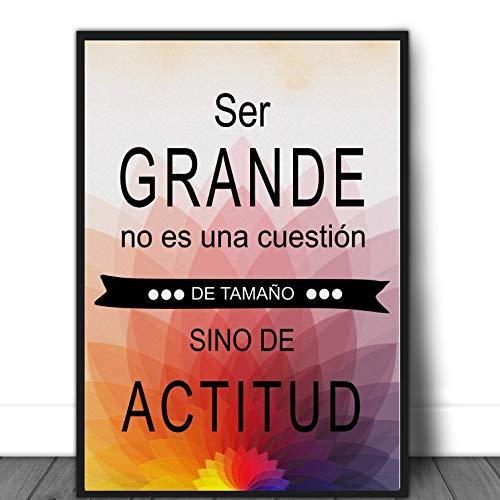 """Didart Handmade Cuadro decoración con frase"""" Ser grande no es una cuestión de tamaño sino de actitud"""". Personalizado. Hecho en España."""