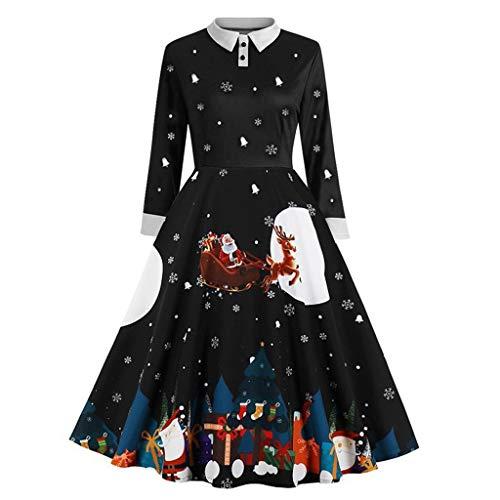 BOLANQ Damen elegant 50er Jahre Petticoat Kleider Gepunkte Rockabilly Kleider...
