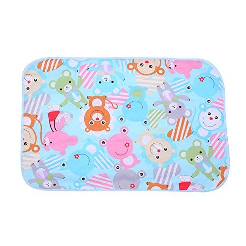 Wickelunterlage Cartoon Baumwolle Wasserdicht Atmungsaktiv Blatt Wickelauflage Windeln Urinal Spiel Cover Baby Matratze Urin (60x90 cm)(Bär)