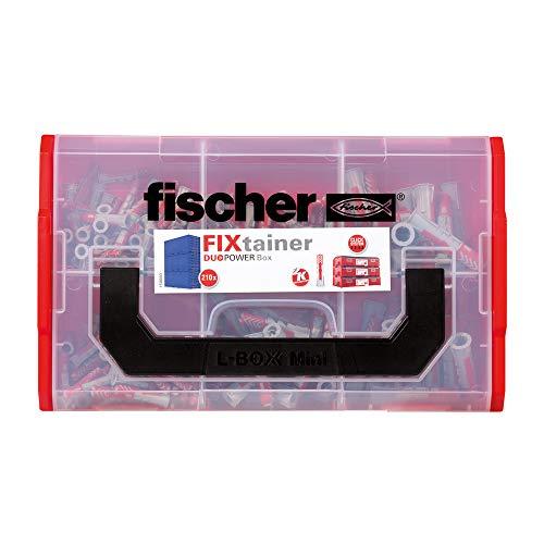 fischer 536161 DUOPOWER Wallplug, Red Gray, Set of 210 Pieces