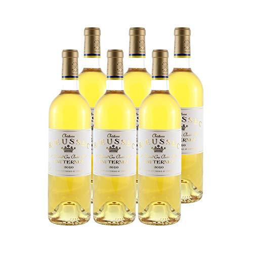 Château Rieussec Weißwein 2010 - g.U. Sauternes süßer - Bordeaux Frankreich - Rebsorte Sémillon, Sauvignon Blanc, Muscadelle - 6x75cl - 18,5/20 Jancis Robinson