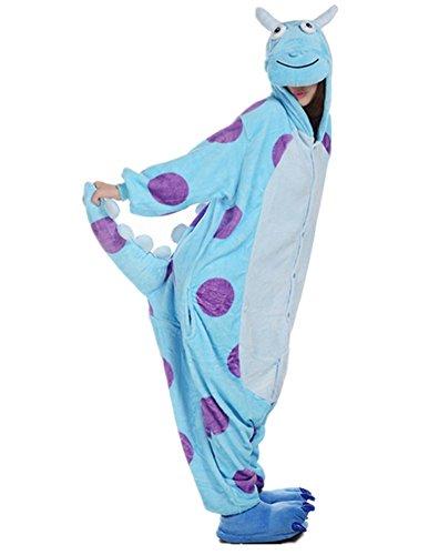 Mauea Unisexo Hombre Mujer Pijamas Halloween Traje Invierno Disfraz Animal Pyjamas Cosplay Monstruo S