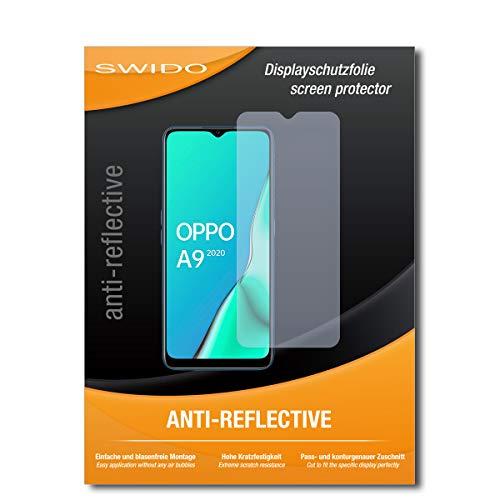 SWIDO - Pellicola Protettiva per Display per Oppo A9 (2020), 2 Pezzi, antiriflesso Opaco, Alta durezza, Protezione da Graffi e Pellicola, Pellicola Protettiva per Display