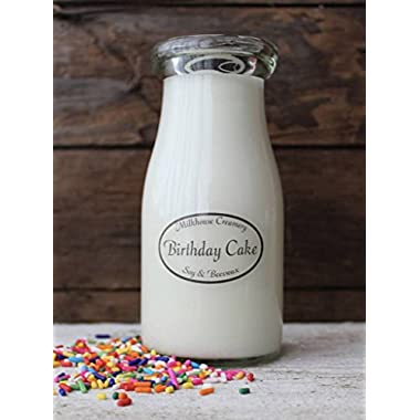Birthday Cake 8 oz. Milkbottle Candle by Milkhouse Candle Creamery