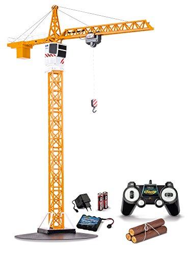 Carson 500907301 1:20 Tower Crane 2.4G 100% RTR, Ferngesteuerter Kran, Baufahrzeug mit Funktionen, inkl. Batterien und Fernsteuerung