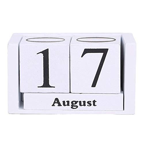 Calendarios de Pared Calendarios de Escritorio Madera de la Vendimia Adviento Calendario Escritorio de la Tabla del Bloque de Madera cepilladora Permanente Organizador de Escritorio Agenda Calendario