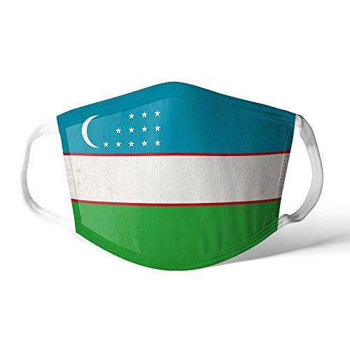 M&schutz Maske Stoffmaske Groß Asien Flagge Usbekistan/Usbekistan Wiederverwendbar Waschbar Weiches Baumwollgefühl Polyester Fabrik