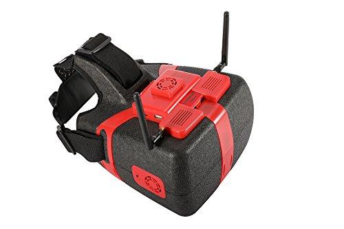 FPV Goggles Video Glasses Flysight Newest Vohd720 HDMI AV DVR RC Quadcopter 5.8G 40CH 7 Inch HD LCD Screen 1024 600 Headset Mavic Pro Spark Inspire 2 Phantom Drone (SMA Ant)