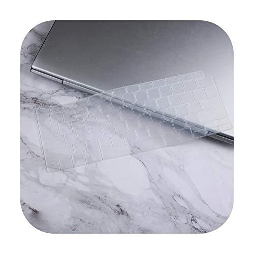 Keyboard cover Protection - Teclado de silicona para Macbook New Air 13 A2179 A2337 Touch ID 2020, transparente