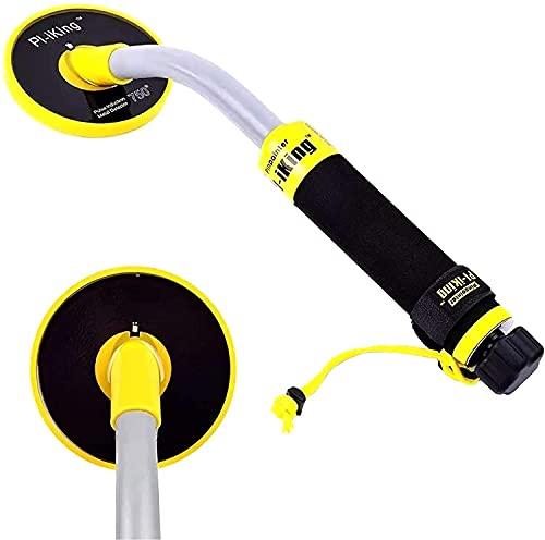 ETE ETMATE Metal Detector con LED a Vibrazione Induzione a Impulsi 750 di Rilevamento LCD, Impermeabile Fino a 30 M di profondità, Portatile