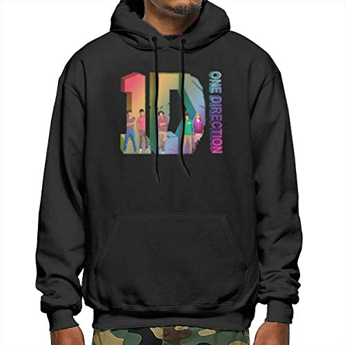 Hangdachang Herren Classic Print mit One Direction Design Pocket Hooded Sweatshirts S.