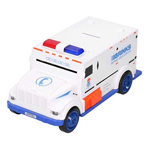 Caja de dinero electrónica, caja de dinero de seguridad para camiones, caja fuerte para regalo por encima de 3 años(white)