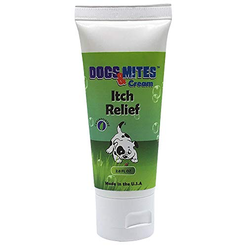 OVANTE Dogs Mite Demodex Mange Healing Itch Relief Cream, Dry, Itchy Skin Soother, Hot Spots Treatment & Natural Wounds Care Solution - 2.0 oz