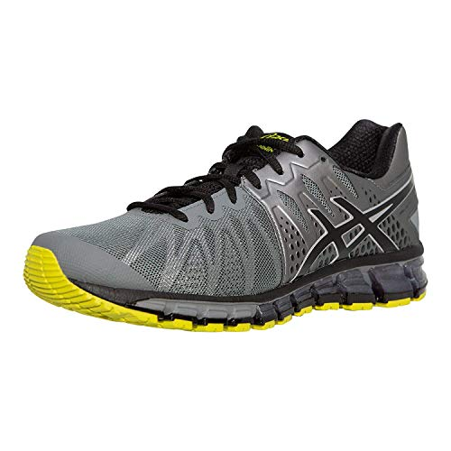 ASICS Men's Gel-Quantum 180 TR Running Shoe, Black/Onyx/Vermilion, 7.5 M US