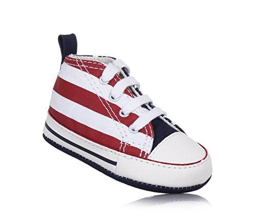 Converse Scarpe Sneakers Chuck Taylor First Star Hi Neonato Bianco 861020C-WHITE