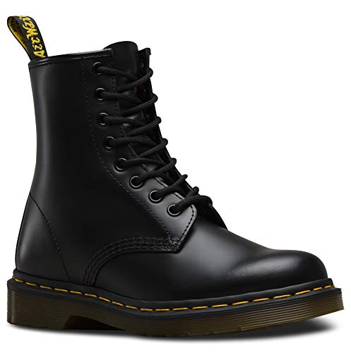 Dr. Martens 1460 Smooth, Stivali Unisex – Adulto, Nero (Black Smooth), 43