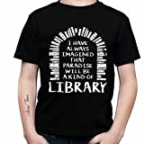 Personalized T Shirt - Paradise Will Be A Kind of Library Photo Text Custom T-Shirts Hoodie Tank Top Shirts for Women Men Gift Funny Your Design