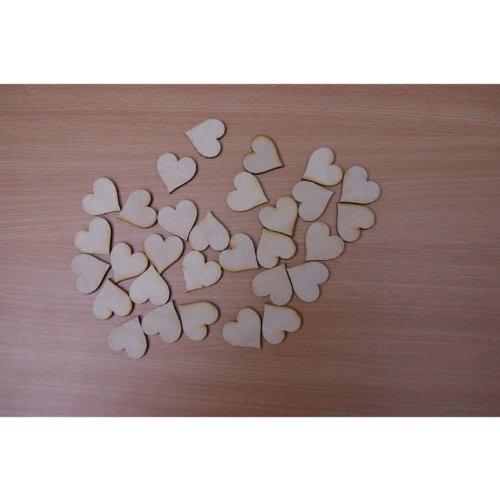 30 stuks (+30 mm) houten hartjes natuurlijk hout houten bruiloft tafeldecoratie houten hartjes met gaten