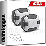 givi portamaletas lateral + maletas lateral trekker ii 35 trk35n compatible con bmw f 650 gs 2005 05
