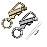 yusud 2 Pack Permanent Match, Flint Fire Starter Never Ending Match Keychain Lighter with Bottle Opener, Forever Waterproof Matches Strike Anywhere, Survival Cool Lighters for Camping